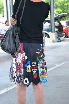 Awesome Idea...Skirt out of Mens ties...how creative! Note to self-start buying ties you want to wear for Father's Day.