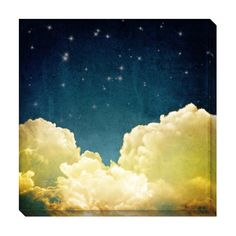 Sleepy Clouds II Oversized Gallery Wrapped Canvas | Overstock.com