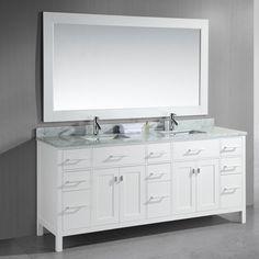 Photo Image Bella Double Vanity Base Top u Sink Included prefab bathroom cabinets Pinterest Vanities Double vanity and Tops