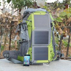 Amazon.com: ECEEN Solar Powered External Frame Pack Sun Charged Hiking Backpack with 10 Watts Solar Charger Panel & 10k mAh Battery Pack for Cell Phones, Tablets, Digital Cameras Etc. 5v Device Charge: Sports & Outdoors