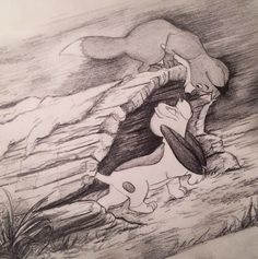 Fox and the Hound Sketch