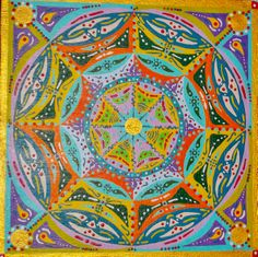Mandala II. Acrílico sobre tabla  25x25cm  30€