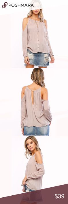 "Off The Shoulder Taupe Casual Chic Top ❤️ BUNDLES ❤️ DISCOUNTS ❌ NO TRADES ❌ NO Low balling!   • Loose fit  * MEASUREMENTS: • SMALL - Length: 23"" Approx - Bust: 40"" Approx • • MEDIUM - Length: 23.75"" Approx - Bust: 42"" Approx • • LARGE - Length: 24.5"" Approx - Bust: 44"" Approx  * MATERIAL: - 100% Rayon Tops"