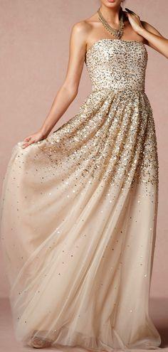 Glitter gown.