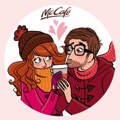 Saint-Valentin illustration #Love / San Valentino, vignetta #Amore - Illust: Magalie Foutrier