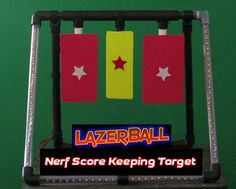Nerf Score Keeping Target Counts hits by Nerf Darts & Nerf Balls and Transmits Hit Info to Phone or Tablet