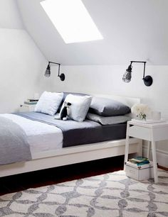 Style at Home designed this guest room using a SELJE nightstand and a MALM bed.