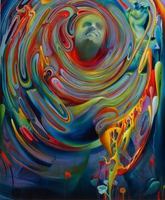 Glowing Swirls of Color Create Mythical Scenes (San Francisco artist Michael Page)