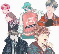 BTS Tae fan art