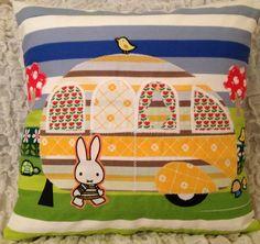 Vintage Miffy Fabric Caravan cushion
