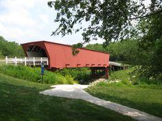 Roseman Bridge...fans of the movie Bridges of Madison County will remember this bridge.