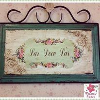 Placa  Lar Doce Lar / Home Sweet Home sign / Nid douillet