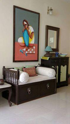 Classic Diwan | Buy Living Room Furniture Online | Ekbote Furniture ...