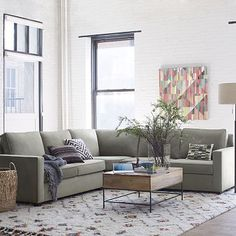 """$2400 SECTIONAL SET Overall product dimensions: 101""""w x 101""""d x 36""""h. Seat depth: 20"""". Seat height: 19"""". Back height: 33"""". Clearance: 2.75"""". Removable legs. Make sure it fits! See our guide on measuring for delivery. LEFT OR RIGHT-ARM LOVESEAT Overall product dimensions: 65""""w x 36""""d x 36""""h. Interior seat width: 60"""". Diagonal depth: 36"""". CORNER UNIT Overall product dimensions: 36""""sq. x 36""""h. Diagonal depth: 32""""."""