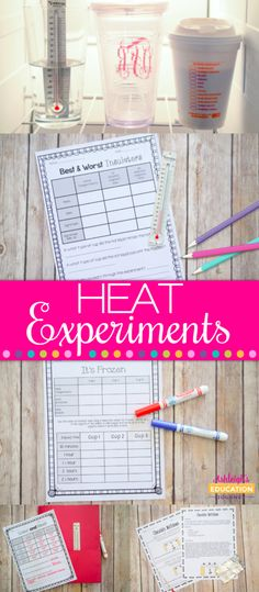 Heat Experiments-hands on science labs and investigations to explore heat