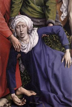 Deposition [detail: 1] by Rogier van der Weyden #art