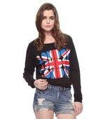 'London London London' graphic long sleeved t shirt
