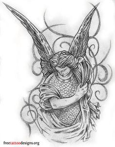 St. Michael Tattoo Stencil | best tatto sparrow tattoo meaning full sleeve lion tattoo tattoo quote ...
