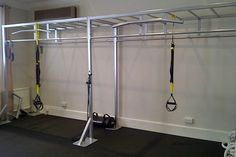 Monkey bars, rings, and pull-up bar