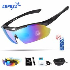 165875a65b Biking Sunglasses UV400 Polarized Protection with 5 Lenses Included   fashion  clothing  shoes