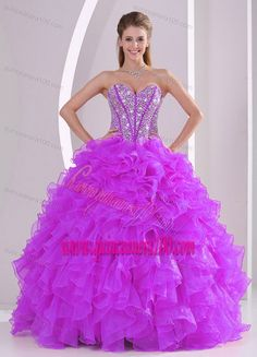 fce06c5750 Buy 2013 winter sweetheart ruffles and beading long quinceanera gowns in  fuchsia from unique quinceanera dresses collection