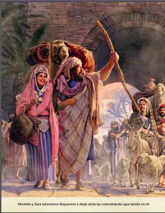 Genesis 12:4 So A′bram went just as Jehovah had told him, and Lot went with him. A′bram was 75 years old when he left Ha′ran. 5 A′bram took his wife Sar′ai and Lot the son of his brother and all the goods that they had accumulated and the people whom they had acquired in Ha′ran, and they set out for the land of Ca′naan