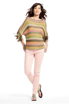 Jana Open Knit Striped Pullover #Calypso St. Barth