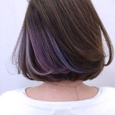 New hair color blue peekaboo 41 Ideas Hair Color 2018, Ombre Hair Color, Cool Hair Color, Hair Colour, Brown Ombre Hair, Blue Hair, Hidden Hair Color, Underlights Hair, Pastel Hair