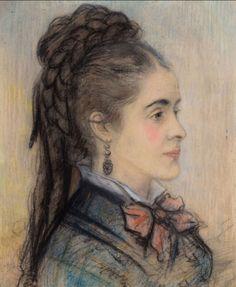 Pierre-Auguste Renoir -Portrait d'une jeune femme