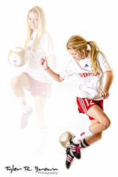 Here are a couple of Lauren's soccer moves, composited.  So cool!