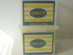 School Memory Box  School Paper Organizer   by SchoolMemoryBoxShop