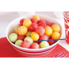 Melon juggling balls ❤ liked on Polyvore featuring food