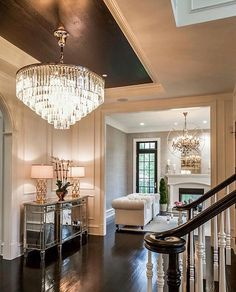One spectacular foyer ... | by @castlewoodcustombuilders |