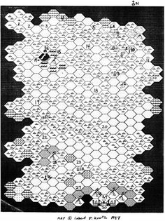 """oldschoolfrp: """"Hexcrawl map for """"To the City of Brass"""", a tournament adventure by Rob Kuntz for the first Dragon Con in 1987. The full adventure can be downloaded free from the Greyhawk Online site, and also is posted at The Acaeum and elsewhere...."""