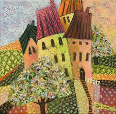 Fantasy Landscape, Happy Life, Home Art, Landscape Paintings, Whimsical, Canvas, Drawings, Artist, Painters