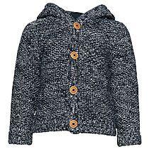 Grobstrick-Jacke für Babies (zweifarbig, langärmlig mit Kapuze und Knöpfen vorne) - TOM TAILOR