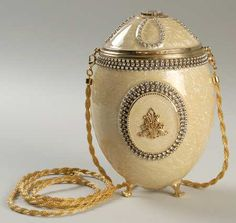 """Faberge, Enameled Egg, Clutch Purse """"PROMISE""""  Replacements, Ltd."""