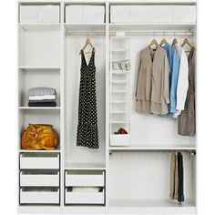 IKEA PAX Wardrobe with interior organizers, white, Hasvik red (62.300 RUB) ❤ liked on Polyvore featuring home, home improvement, storage & organization, furniture, closet, decor and interior