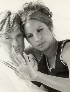 Robert Redford and Barbra Streisand in a publicity shot for The Way We Were (1973).