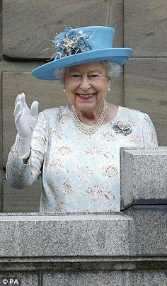 Queen Elizabeth II in Dundee. July 6 2016