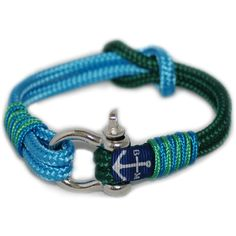 Green And Blue Nautical Bracelet by Bran Marion