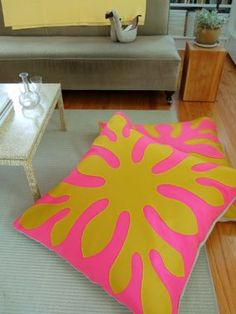 These floor pillows would be fantastic... and a nod to our years in Hawaii.  Would use different colors.