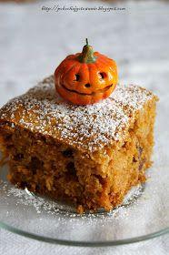 Pokochaj gotowanie: Ciasto z dynią i rodzynkami Food And Drink, Pudding, Sweets, Cookies, Baking, Cake, Desserts, Bonsai, Halloween