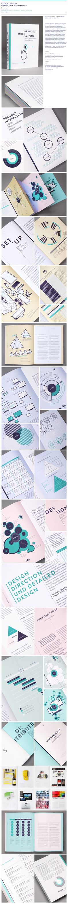 """The book """"Branded Interactions"""" is perfectly designed. It is full of diagrams and  illustrations that facilitate the understanding of the content. The book has a consistent design system. Each chapter has it's own color of pages which allows a quick navigation - you can even see the chapters from the side of the book. #Design #Infografik #Diagram #Typography"""