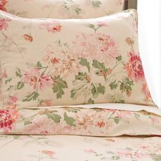 Pine Cone Hill Lady Apricot Floral Duvet Cover and Shams - Lady Apricot Floral Duvet Cover and Shams