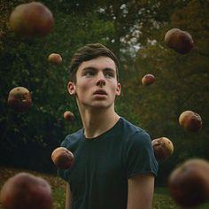 Paradise. (Oliver Charles) Tags: boy portrait nature field fruit forest self garden 50mm nikon focus bokeh floating levitation apples 365 clone duplicate d3100