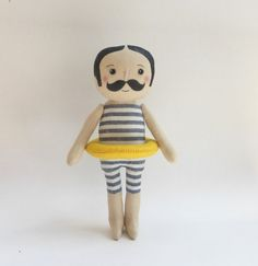 Gentleman swimmer cloth doll in swimming costume doll with by Lybo
