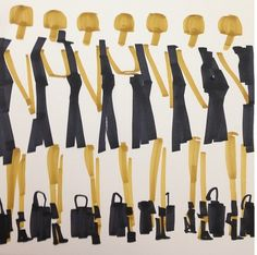 Anna Wintour's Army, Fashion Illustration by Donald Drawbertson, via Instagram.