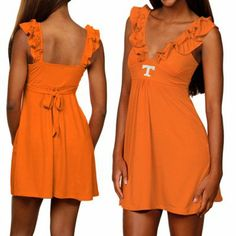 Tennessee Volunteers Ladies Tennessee Orange Sorority Girl Sundress
