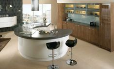 curved kitchen islands with sink - Google Search
